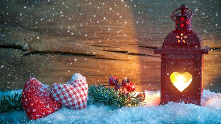 Fondos de Navidad Con Corazones Para Escritorio