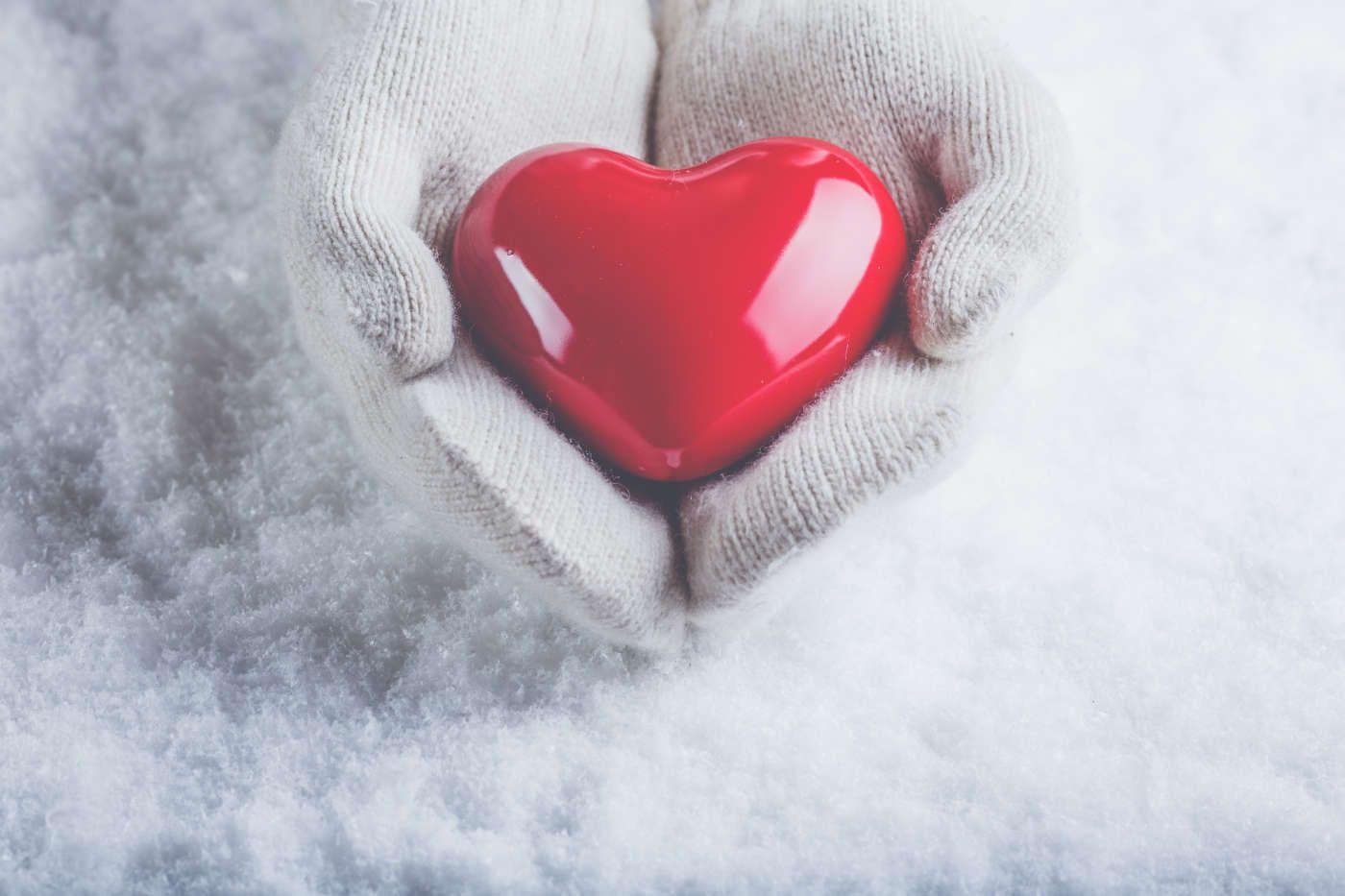 Imagenes navideñas de corazones para fondo de pantalla