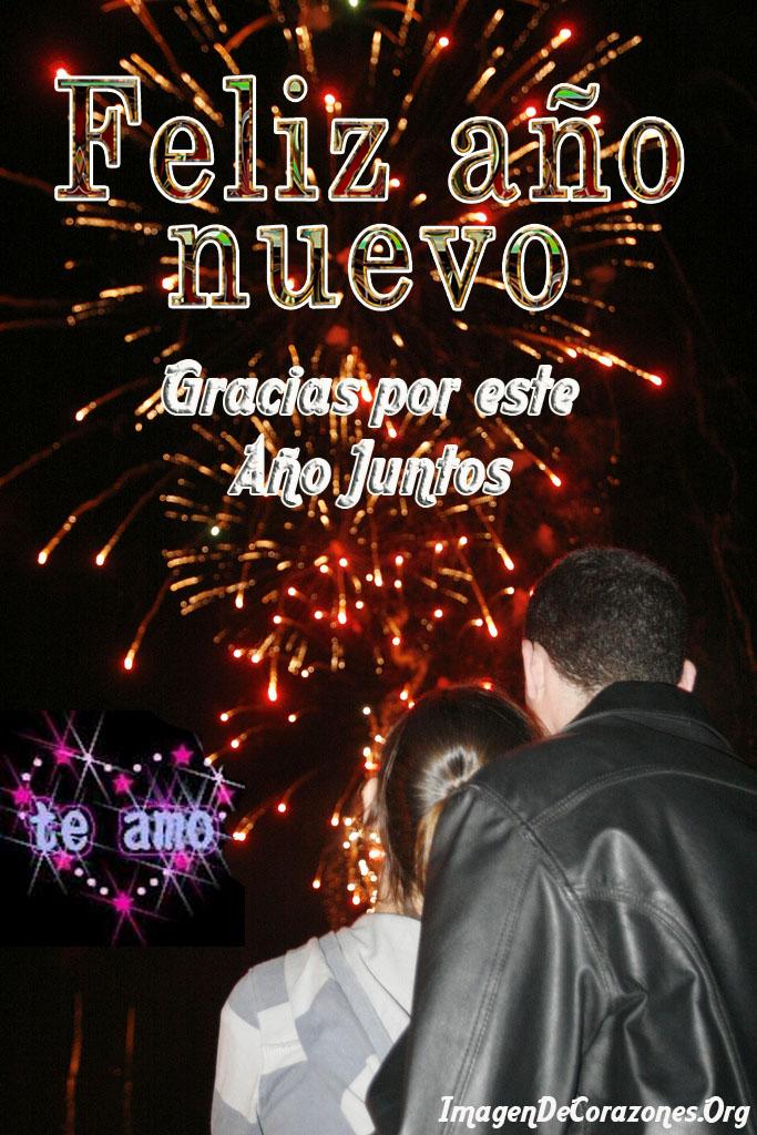 gracias por este año juntos mi amor feliz año nuevo