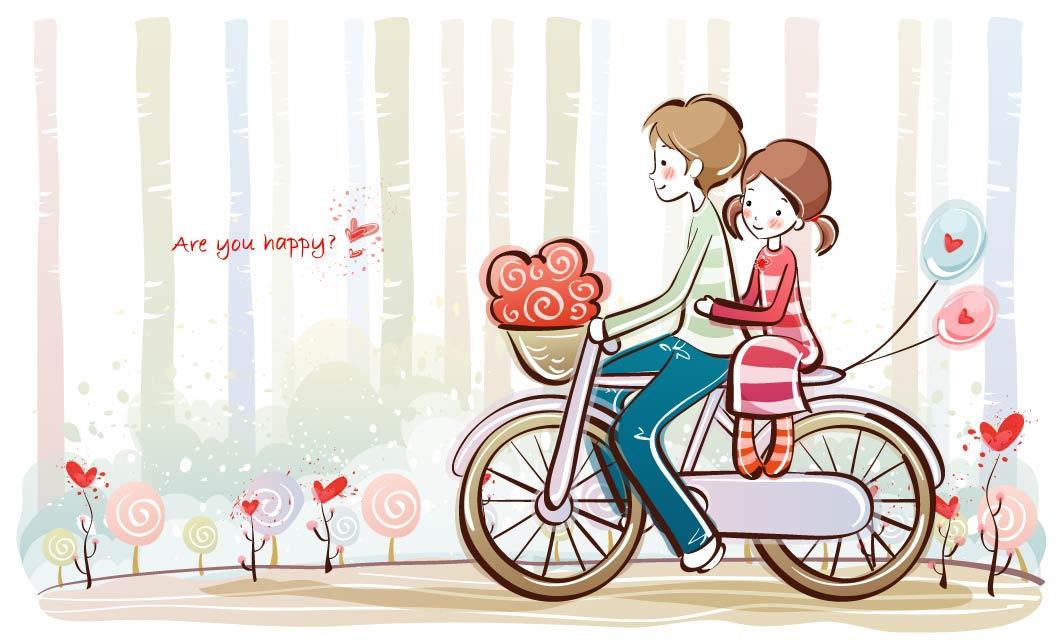 Dibujos de parejas romanticas para dedicar por whatsapp