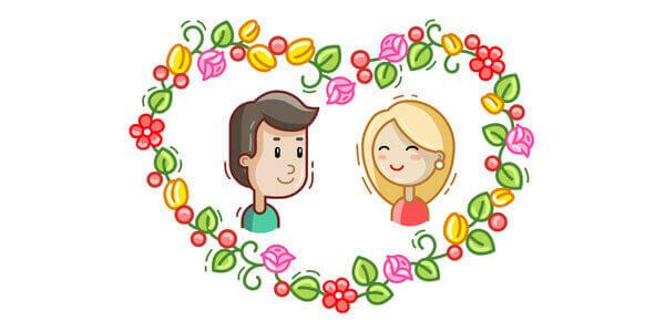 Dibujos romanticos corazon y una pareja para enviar a mi pareja