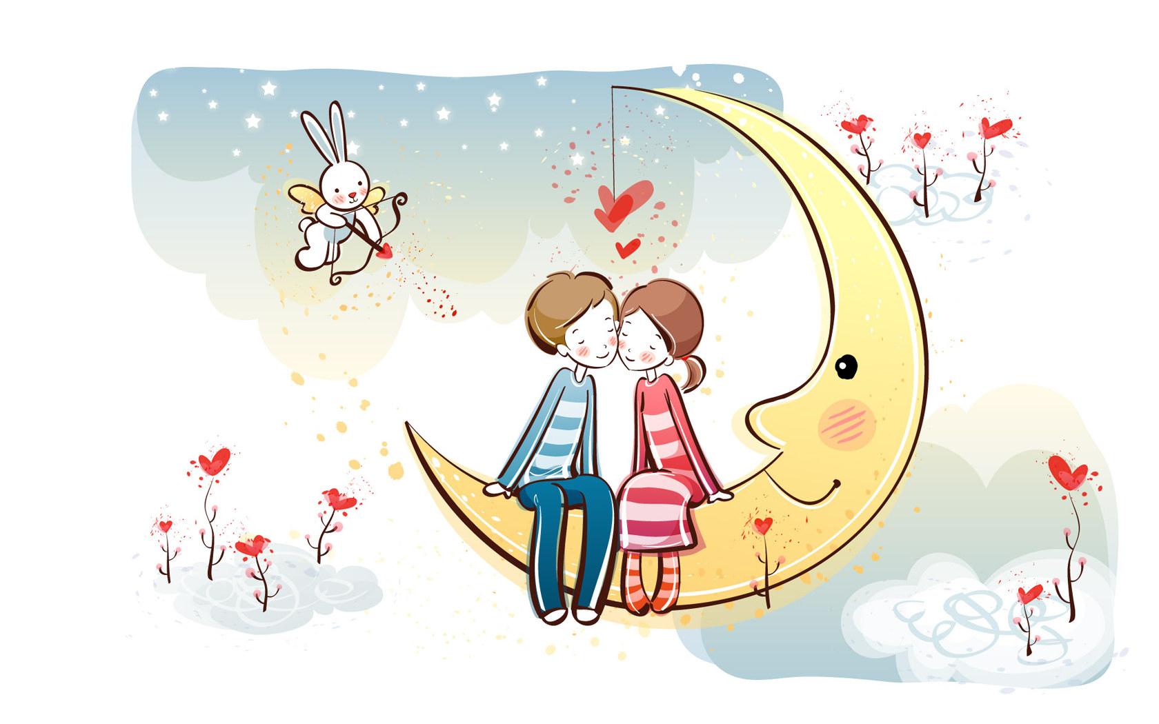 Dibujos romanticos de parejas para enamorar