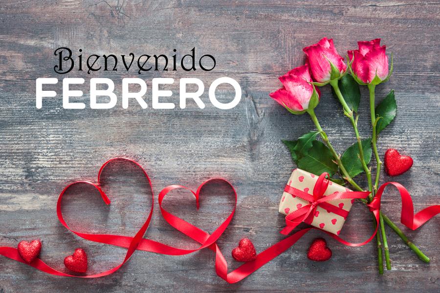 Imagen Corazones y Rosas Bienvenido Febrero