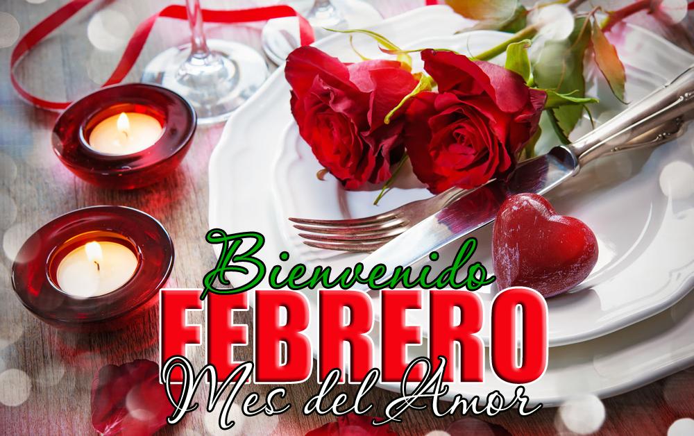 Imagen Romantica Bienvenido Febrero Mes Del Amor