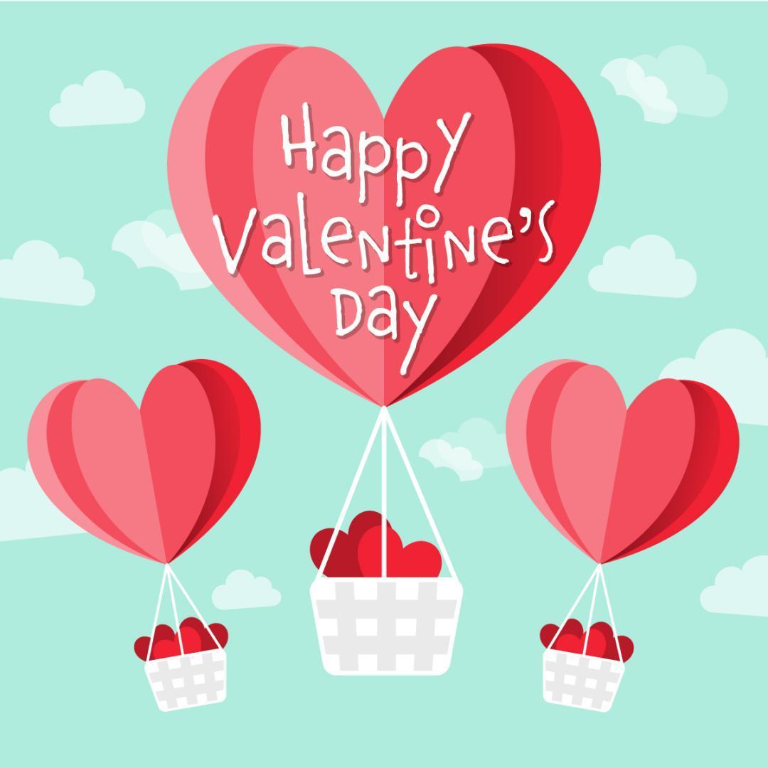Feliz Dia De San Valentín Imagen de corazones