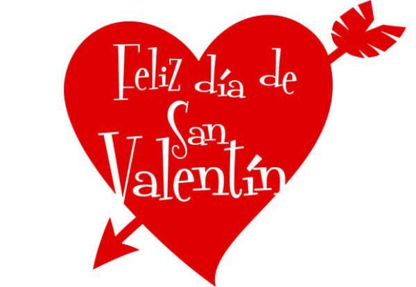 Imagen de un corazón flechado feliz dia de san valentín