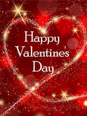 Imagenes Color Rojo Con Un Corazón Dorado Feliz De San Valentin