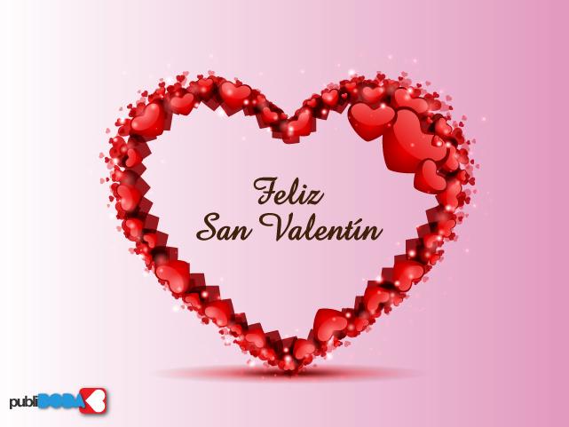 Imagenes de Corazones Con La Frase Feliz Día San Valentín