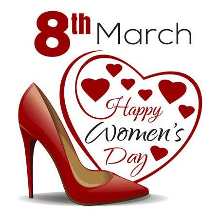 Imagen con Corazon enviar el 8 de Marzo dia de la Mujer