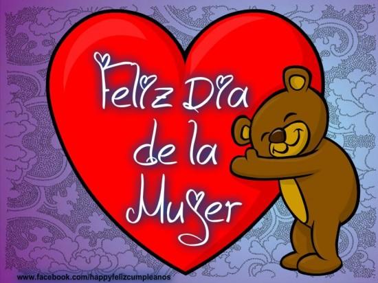 Imagen de Corazon Y Oso Feliz Dia De La Mujer
