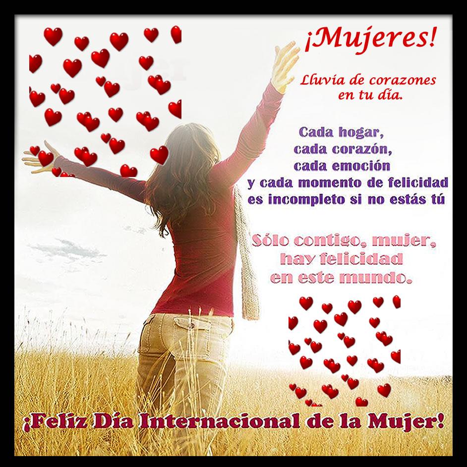 Imagenes con corazones día internacional de la mujer