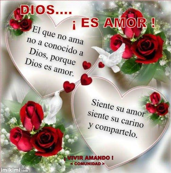 Imagen De Corazones Con Frases Sobre El Amor De Dios