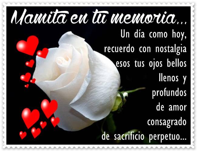Imagen de Rosa Blanca y Corazones para Dedicar a mi mama que Fallecio