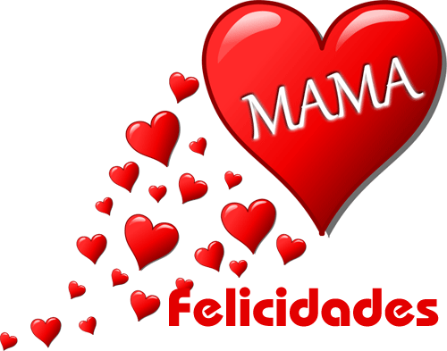Imagen de corazon felicidades mama