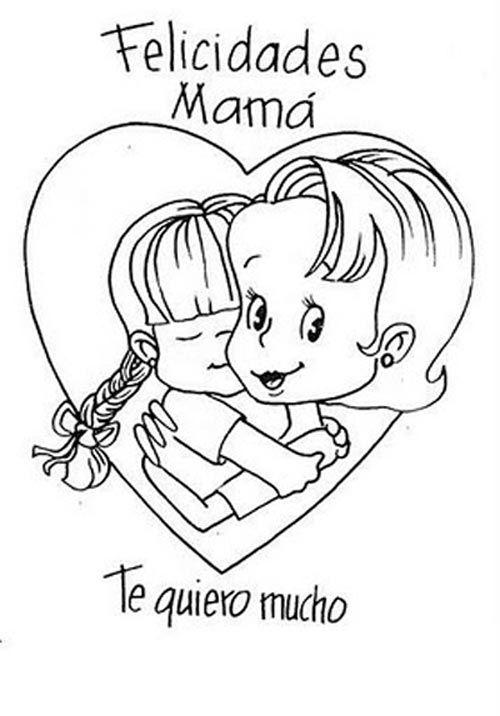 imagenes de dibujos para colorear para el dia de la madre