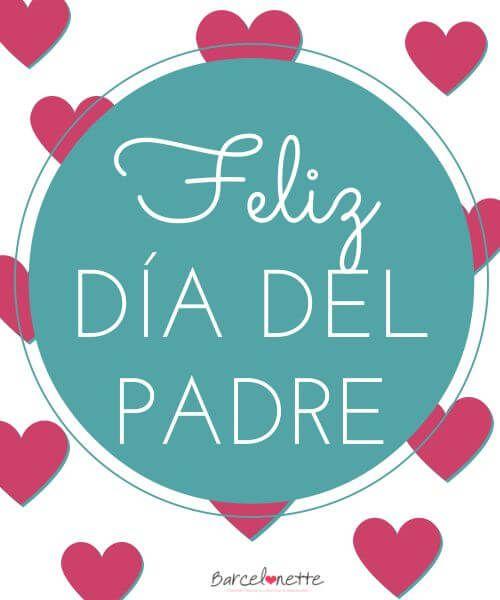 Bonito cartel con corazones para el día del padre