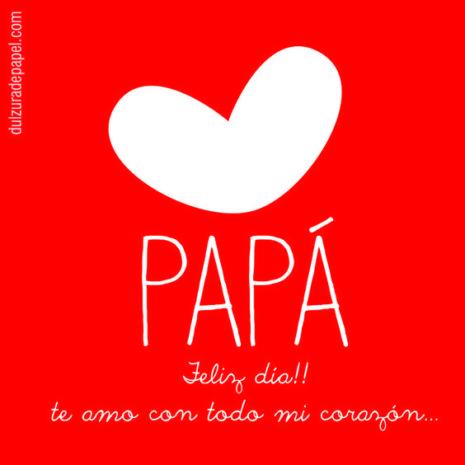 Imagen de corazón feliz día papá